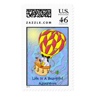Life Is A Beautiful Adventure Postage Stamps