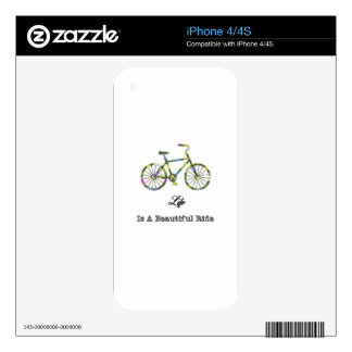 Life Is A Beautiful Ride Decals For iPhone 4S