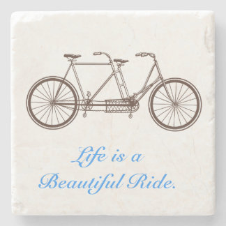 Life is a Beautiful Ride Stone Beverage Coaster