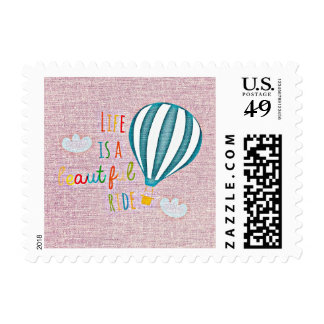 Life is a Beautiful Ride Hot Air Balloon Stamp
