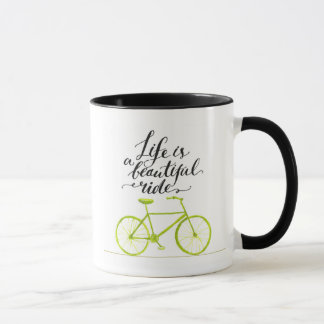 Life Is A Beautiful Ride Lime Green Mug