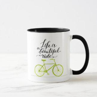 Life Is A Beautiful Ride Lime Green Mug