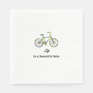 Life Is A Beautiful Ride Paper Napkin