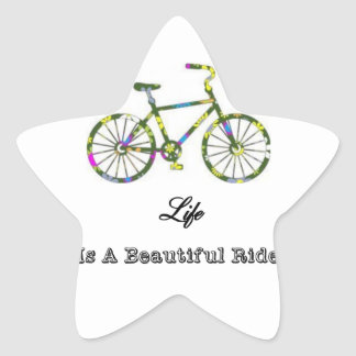 Life Is A Beautiful Ride Star Sticker