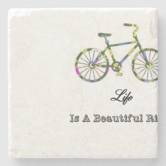 Life Is A Beautiful Ride Stone Coaster
