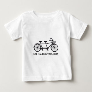 Life is a beautiful ride, tandem bicycle baby T-Shirt