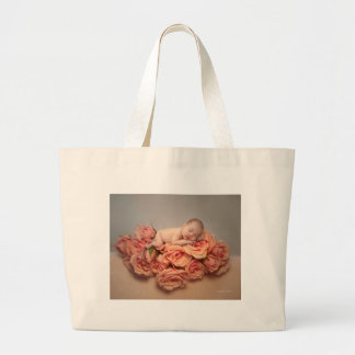 Life is a bed of roses large tote bag
