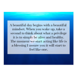 Life Is A Blessing Quote Postcard