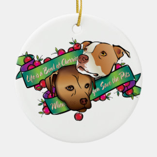 Life is a Bowl of Cherries Christmas Tree Ornament