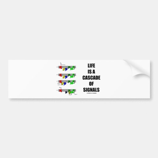 Life Is A Cascade Of Signals (Signal Transduction) Bumper Sticker