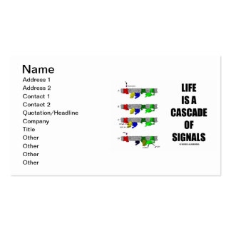 Life Is A Cascade Of Signals (Signal Transduction) Business Card