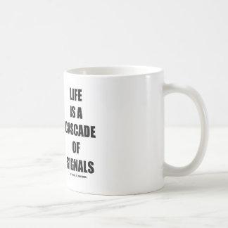 Life Is A Cascade Of Signals (Signal Transduction) Classic White Coffee Mug