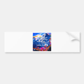 Life is a crossing with flowers bumper sticker