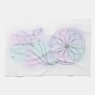 'Life Is A Dream' Pastel Dreamcatcher Tea Towel