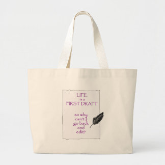Life is a First Draft Large Tote Bag