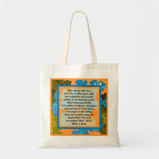 life is a fun journey budget tote bag