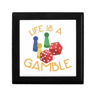Life Is A Gamble Keepsake Box