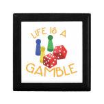 Life Is A Gamble Keepsake Boxes