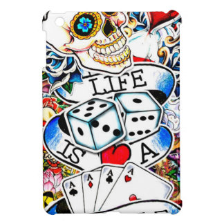 LIFE IS A GAMBLE TATTOO ART iPad MINI CASES