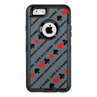 Life Is A Game Bridge Is Serious Card Suits OtterBox Defender iPhone Case
