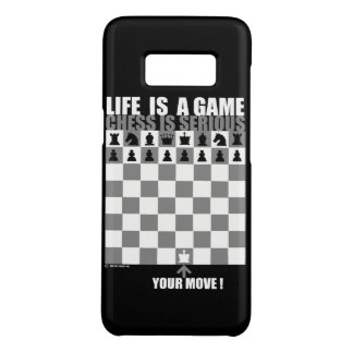 Life is a game, chess is serious Case-Mate samsung galaxy s8 case