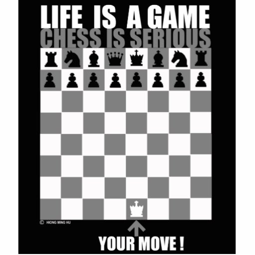 Life is a game, chess is serious photo cut out