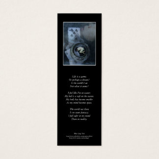 'Life is a Game' poetry bookmark Mini Business Card