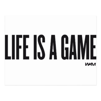 Life is a game postcard