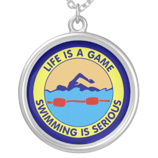 Life Is A Game, Swimming Is Serious Pendants