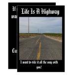 Life is a highway customozable card, card