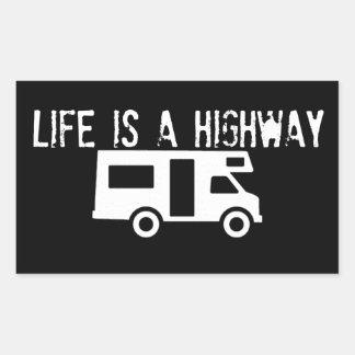 Life is a highway rectangular sticker