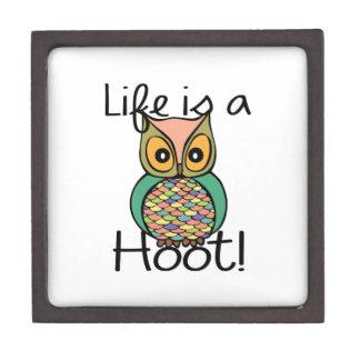Life is a Hoot Premium Trinket Box
