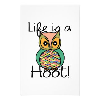 Life is a Hoot Personalized Stationery