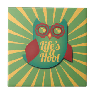Life is a HOOT Tile