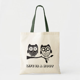 LIFE IS A HOOT TOTE BAG