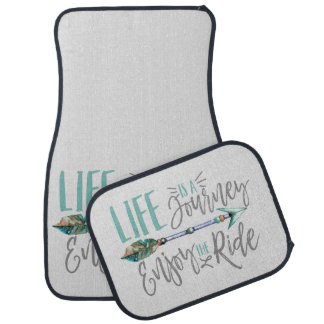Life is a Journey Enjoy the Ride Boho Wanderlust Car Floor Mat
