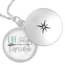 Life is a Journey Enjoy the Ride Boho Wanderlust Silver Plated Necklace