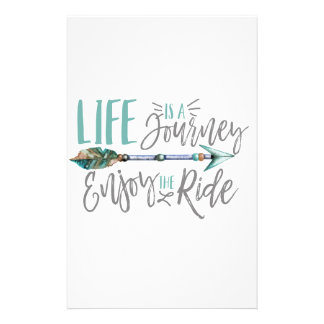 Life is a Journey Enjoy the Ride Boho Wanderlust Stationery