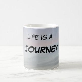 """""""LIFE IS A JOURNEY MUG"""" CLASSIC WHITE COFFEE MUG"""