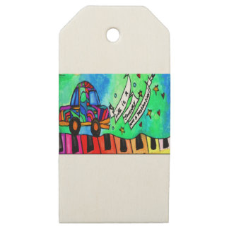 Life is a journey not a destination wooden gift tags