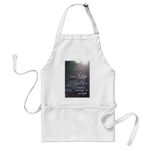 Life is a Journey quote inspirational apron gifts