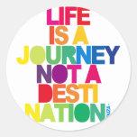 Life Is A Journey Round Sticker