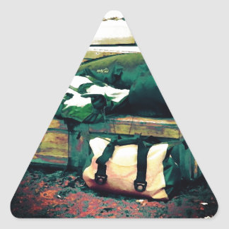 Life Is A Journey Triangle Sticker