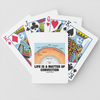 Life Is A Matter Of Convection (Earth Science) Bicycle Playing Cards