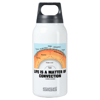 Life Is A Matter Of Convection (Earth Science) 10 Oz Insulated SIGG Thermos Water Bottle