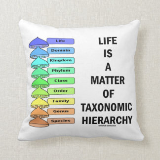 Life Is A Matter Of Taxonomic Hierarchy (Biology) Throw Pillow