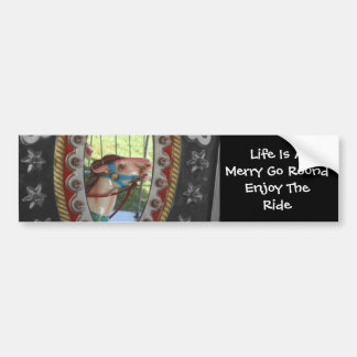 Life Is A Merry Go Round Bumper Sticker