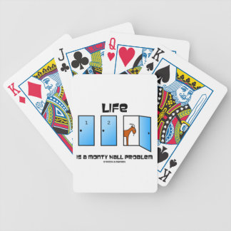 Life Is A Monty Hall Problem Three Doors Goat Bicycle Playing Cards
