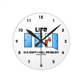 Life Is A Monty Hall Problem Three Doors Goat Round Clock