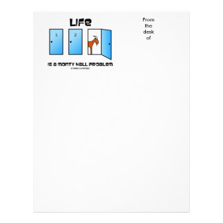 Life Is A Monty Hall Problem Three Doors Goat Letterhead